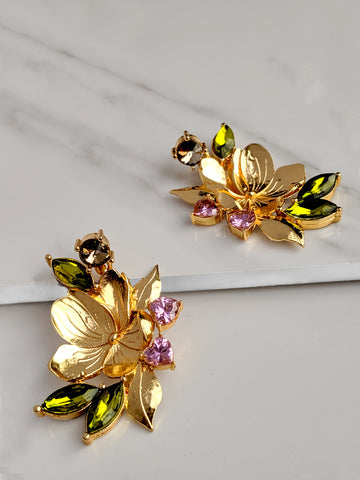Gorgeous Floral Heart Earring