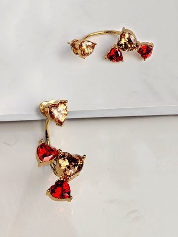 Be My Lover Heart Earring(Red)