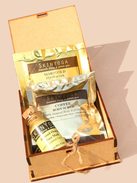 Skin Yoga Beauty Hamper (Almond Orange)