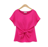 women O-neck short sleeve Tops