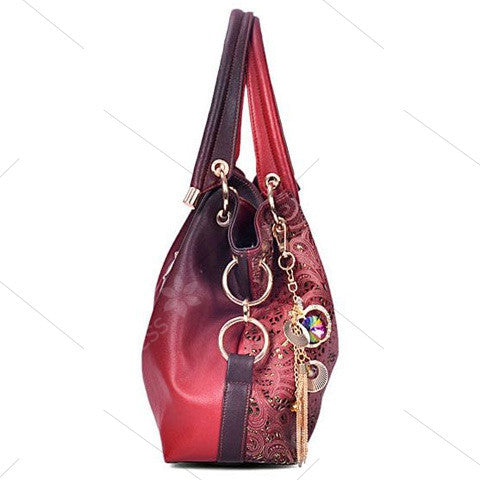 Metal Pandent Shoulder Bag