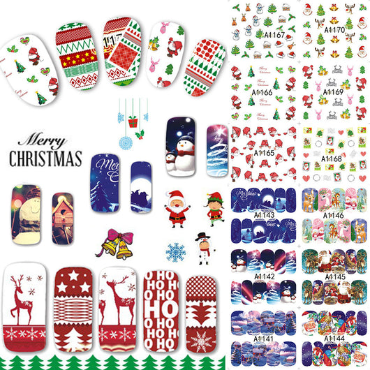 Christmas Nail Art 48 Piece Set