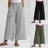 Women's Pockets Bottoms Long Trousers Pants