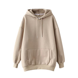 Casual Solid Hooded Hoodies Women Pockets Batwing Long Sleeve Plus Size Sweatshirts Autumn Pullover Pure Fashion Tops Sudaderas