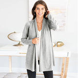 Casual Sweater Women Pure Long Sleeve Cardigan Coat 2019 Autumn Fashion Knitted Jumper Cardigan Plus Size Outerwear Womens Tops