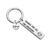 Custom Keyring Engraved Thank for All The Orgasms I Love You Key Ring Couple Keychain Jewelry Gifts Give To My Boyfriend Husband