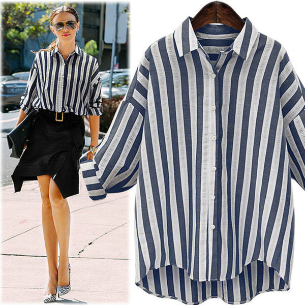 60609016c5 Blue White Striped Long Sleeve Shirt – Your Stylish Guru