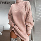 Forefair Turtleneck Long Sleeve Sweater Dress