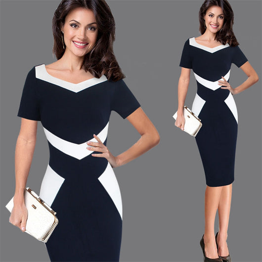 Women Office Business Party Evening Occasion Dress