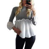 Women O Neck Long Sleeve T-shirt