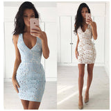 Party Prom Celebrity Short Evening Lace Dress
