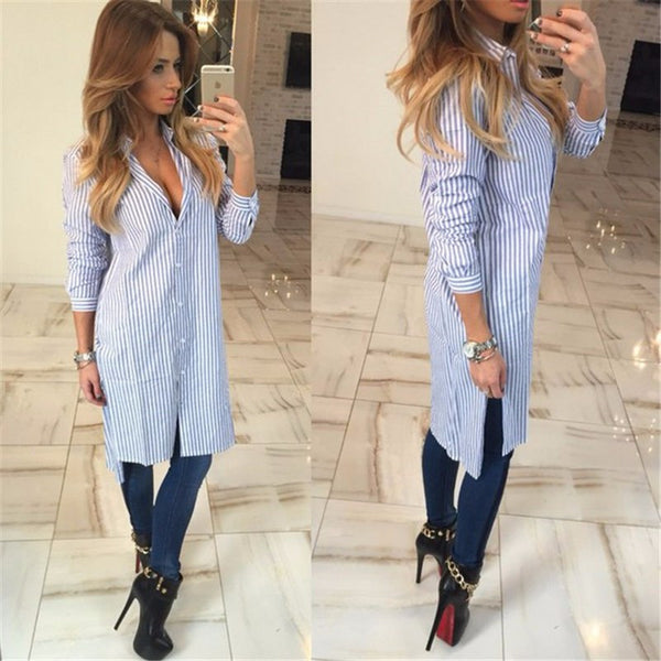 Fashion Striped Shirts Long Sleeve
