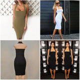 Celebrity Sleeveless Bandage dress