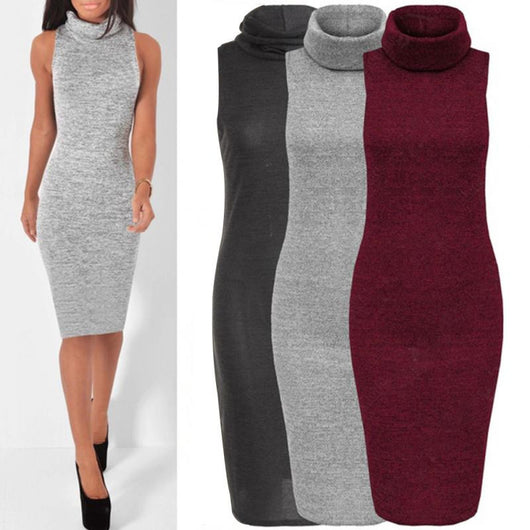Long Sleeve Skinny Party Bodycon Pencil Dress