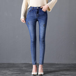 High Waist Jeans For Women Trousers Slim Stretch Denim Jean Skinny Push Up Jeans Woman Daily Long Pants