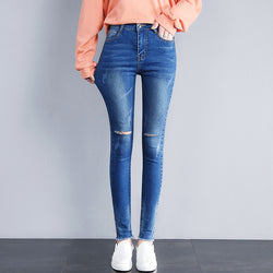 Jeans Woman Stretch Skinny Jeans With High Waist Women Washed Denim Ladies High Elastic Pencil Pants