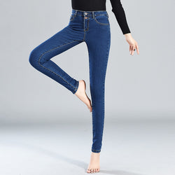 Jeans Women 2019 High Waist Stretch Skinny Denim Pants Mom Jeans Basic Pencil Pants Ladies Streetwear Cowboy Slim Trousers