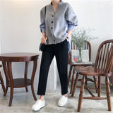 Patchwork Striped Women Sweater Cardigan 2019 Autumn Fashion Loose V Neck Button Cardigan Long Sleeve Knitted Sweater Tunic