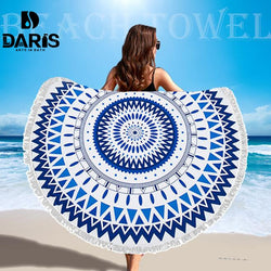 Microfiber Round Beach Towel (50% OFF )