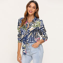 Vintage Floral Print Women Blouse Shirts 2019 Casual Loose Long Sleeve Blouse Office Turn Down Collar Shirt Top Tunique Femme