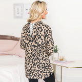 Women Autumn Sweatshirt 2019 Leopard Print Fashion Hoodie Tops Long Sleeve Hooded Pullover Casual Loose Tunic Sudadera Mujer