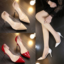 Women Fashion Pumps 2019 Summer new  Transparent High Heels Sexy Pointed Toe Slip on  Party Shoes For Lady f125 1
