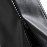 Women Stylish PU Faux Leather Stretch Pants 2019 Solid Color High Waist Ladies Pencil Trousers Full Length Streetwear Bottoms on AliExpress
