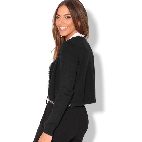 Elsie Silky Knit Long Sleeve Cardigan