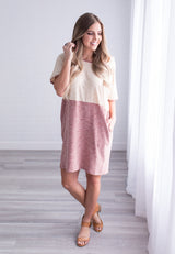 Two Tone Heathered Pocket Dress