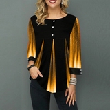 Elegant Loose Casual Striped Long Sleeve Blouse