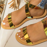 Multi Color Platform Sandals Women