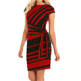 Knee Length Shift Dresses With Belt