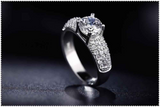White Gold Plated Cz Diamond Ring
