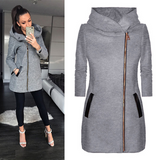 Women Slim Hooded Thick Jacket Coats