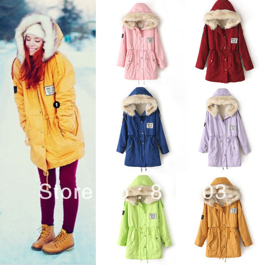 Free Shipping 2014 Winter Women Fashion Hooded Zipper Embellished Fleece ( 50% OFF )