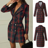 Check Out This Black Friday Deal > Checked Double Breasted Blazer Coat