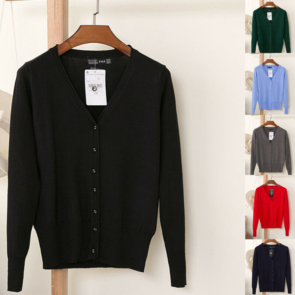 Lumens V-Neck Cardigan Button Down