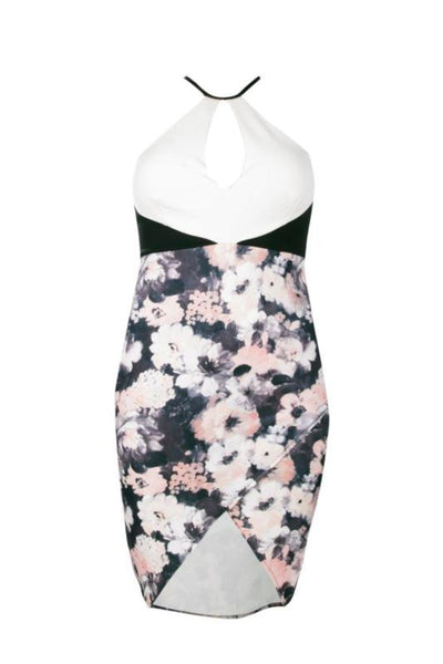 Boohoo Womens Plus Wendy Wrap Front Floral Midi Dress