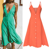 Women Dress Ladies Beach Summer Dress Strappy Sexy Fashion Casual Stylish
