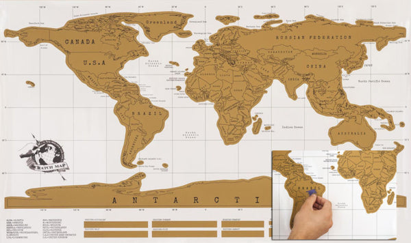 LARGE SCRATCH OFF WORLD MAP POSTER PERSONALIZED TRAVEL 75% OFF FOR BLACK FRIDAY!