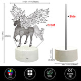 Unicorn 3D LED Night Light With Remote Control  Black Friday Sale