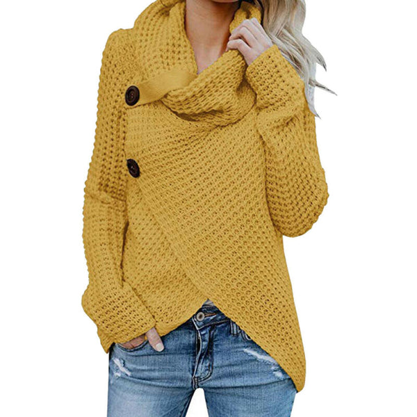 Women's Long Sleeve Knitted Sweater Jumper Cardigan Knitwear Winter Outwear Tops