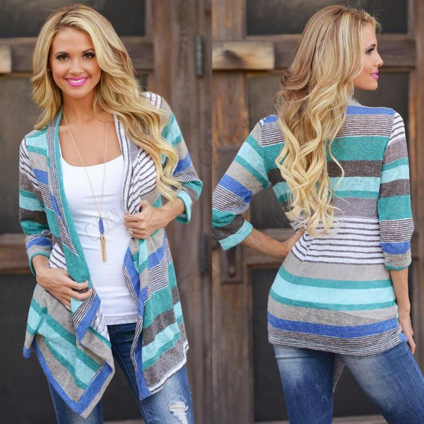 Womens Ladies Knitted Open Jumpers Long Sleeve Cardigan Shawl Sweater Coat Tops