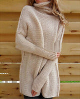 UK Womens Oversized Jumper Ladies Long Sleeve Chunky Knitted Long Sweater Tops
