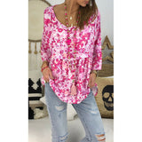 Womens Loose Boho T Shirt Tee Blouse Ladies Summer Baggy Pullover Tops Plus Size
