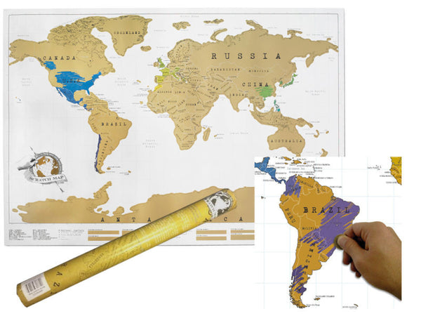 Scratch Off World Map Poster.Large Scratch Off World Map Poster Personalized Travel 75 Off