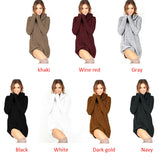 Long Sleeve Winter Loose Knitted Autumn Sweater/Dress