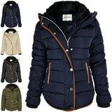 Starta women's  deluxe quilted winter hooded coat.