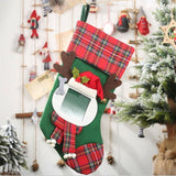 Xmas Santa Stocking With Photo Insert