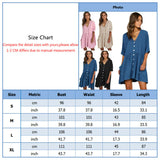 Womens Holiday Loose Button Pocket Ladies Summer Beach Mini Swing Sun Dress Tops